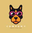 dog wearing glasses vector image