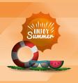 enjoy summer vac vector image