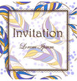 Feathers-invitation vector image