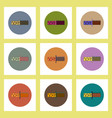 flat icons set of drought and soil concept on vector image vector image