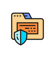 folder protection confidential information vector image