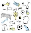 football doodle set vector image