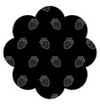 frame with blackberries pattern background vector image