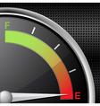 fuel gauge empty vector image vector image