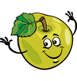 funny apple fruit cartoon vector image
