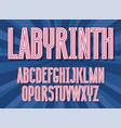 futuristic maze alphabet letters vector image