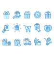 gift box icons set black vector image