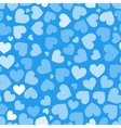 Hearts on blue seamless pattern vector image vector image