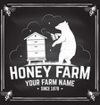 honey bee farm badge concept for shirt vector image vector image