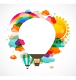 hot air balloon colorful abstract background vector image vector image