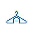 house laundry logo icon design vector image vector image