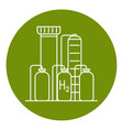 hydrogen plant icon in thin line style vector image