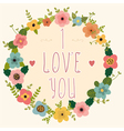 I love you Postcard vector image vector image