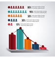 Infographic design Data concept Colorful vector image