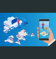 Isometric logistics and delivery infographics