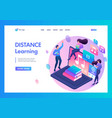 landing page isometry online learning class vector image