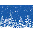 landscape with christmas trees vector image