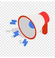 loudspeaker isometric icon vector image vector image