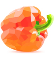 low poly red bell pepper vector image vector image