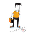 man looking for a job vector image vector image