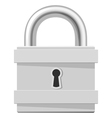 Metal padlock isolated on white background vector image vector image
