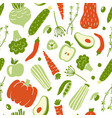 modern seamless pattern with hand drawn colorful vector image