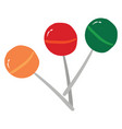 multi-colored lollipops or color vector image vector image