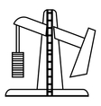 Oil rig icon outline style vector image vector image