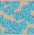 palm leaves seamless pattern background vector image vector image