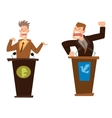Politicians people set vector image vector image