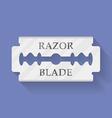 Razor blade icon symbol Flat style vector image vector image