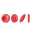 red blood cells on a white background vector image vector image