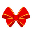 red bow for gift vector image vector image