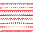 red symbols ornament vertical symmetrical pattern vector image