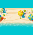 seamless beach resort with colorful beach vector image