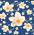 seamless pattern bloom flowers vector image vector image