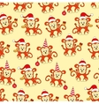 Seamless pattern monkey for new year vector image vector image