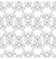 seamless pattern of elegant flourishes vector image vector image