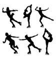 set figure skating vector image
