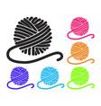 set yarn ball icons vector image vector image