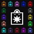 shopping bag icon sign Lots of colorful symbols vector image