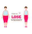 silhouettes woman show process losing weight vector image vector image