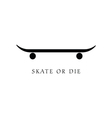 skate icon in black vector image