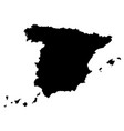 spain map outline vector image vector image