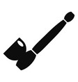 steel smoke pipe icon simple style vector image vector image