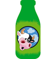 surprised cow vector image vector image
