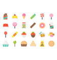 sweets and candy icon set 12 flat design vector image vector image