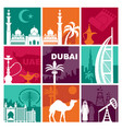 traditional symbols united arab emirates vector image vector image
