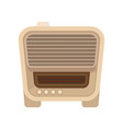 vintage radio with small buttons retro music vector image