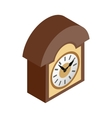 Vintage wall clock icon isometric 3d style vector image vector image